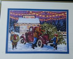 Dimensions Gold Collection Petites Cross Stitch Kit Holiday Tree Farm Rare  #Dimensions #GoldCollection