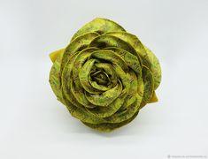 """Купить Кожаная женская сумка роза коллекция """"Barocco"""" - желтый, подарок на день рождения"""