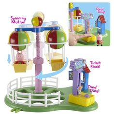 Peppa Pig Deluxe Balloon Ride Playset - available at Toys R Us, Woking. Peppa Pig Shop, Peppa Pig Theme Park, Toys R Us, Kids Toys, Balloon Rides, Train Rides, Weird And Wonderful, Christmas Presents, Christmas Ideas