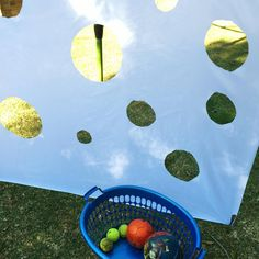 Shower Curtain Ball Throwing | @oliviasfoster