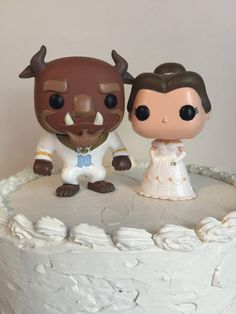 Custom Wedding Belle Ballgown and Beast Funko Pop Wedding Cake Topper Set Disney's Beauty and the Beast