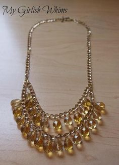 DIY Amber Dangle Necklace