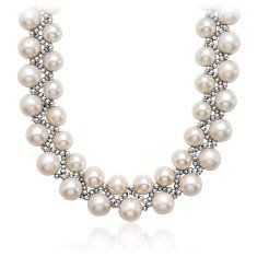 Freshwater Woven Pearl Necklace with Sterling Silver