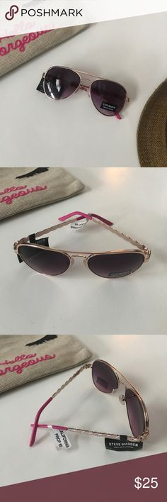 bea5416edf86 Steve Madden | NWT Pink Arm Aviator Sunglasses Super cute aviator sunglasses  by Steven Madden.
