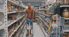 This bereaved, supermarket shopping Spiderman. | 28 Superheroes You Wouldn't Trust To Save The World