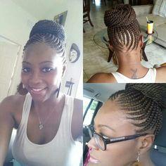 Fine Cornrows Bun Braid And Buns On Pinterest Hairstyle Inspiration Daily Dogsangcom