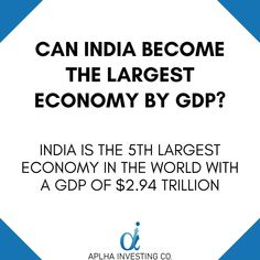 Can India become the worlds largest economy? According to a poll 73% people feel that India would become the largest economy. But lets check the numbers and understand if it is possible. Comment your views on how can India increase its GDP growth rate! Follow @alphainvestingco  if you like our research.  Tags #aatmanirbharbharat #atmanirbharbharat #india #indiagrowth #largest #economy #indianeconomy #boycott #boycottchina #boycottchinaproducts #stockmarket #china #china🇨🇳 #wealth #usa… China China, Stock Market, Worlds Largest, Instagram Feed, Wealth, Investing, Numbers, India, Let It Be