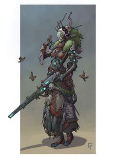 Fantasy n concept art. Fantasy Character Design, Character Design Inspiration, Character Concept, Character Art, Concept Art, Arte Robot, Robot Art, Robots, Cyberpunk Character