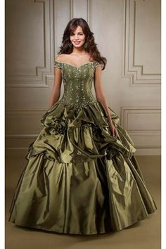 Amazing Off-the-shoulder Taffeta Floor-length Ball Gown Sleeveless Wedding Dresses