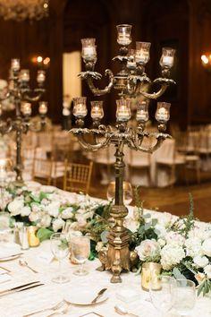 Wedding reception flower idea; photo: Jenna McElroy