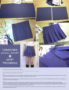 DIY Tora Dora Cosplay Pleated Skirt ♥‿♥Follow Cosplay Sushi for more cosplay ideas!