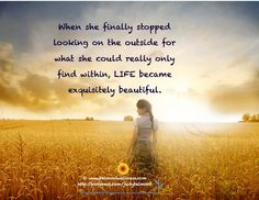 Find within....happiness is at reach