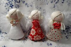 Sewing Projects For Kids, Projects To Try, Angel Crafts, Fabric Dolls, Doll Toys, Primitive, Christmas Crafts, Handmade, Vintage
