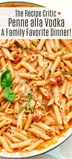 Penne alla Vodka is creamy, full of flavor and absolutely divine! This simple yet elegant dish is exploding with a creamy rich tomato sauce, and tender pasta. Perfect dinner anytime of the week!