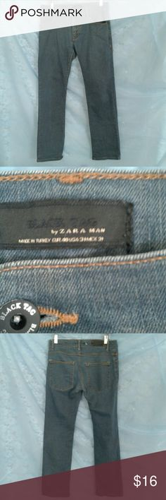 BLACK TAG BY ZARA MEN BOOT CUT JEANS GOLD CONTRAST STITCHING DETAILS,  5 POCKETS,  SIGNATURE HARDWARE, TRUE TO SIZE,  GREAT PRE-LOVED CONDITION,  NO SIGNS OF WEAR,  RIPS, STAINS, OR SMELLS BLACK TAG BY ZARA MAN Jeans Bootcut