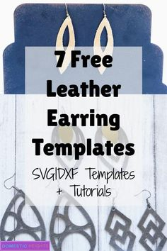 8 Free Cricut Leather Earrings Templates and Tutorial 8 Free Cricut Leather Earrings Templates and Tutorial - DOMESTIC HEIGHTS<br> cutting leather earrings with the cricut – 8 free tempaltes Diy Leather Earrings, Leather Jewelry, Cricut Air 2, How To Make Leather, Cricut Tutorials, Cricut Ideas, Leather Projects, Leather Crafts, Cricut Creations