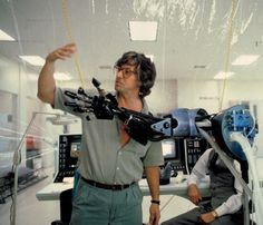 Paul Verhoeven on the set of RoboCop (1987)