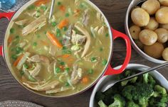 Rustikk Mat: Hønsefrikassé Soup, Ethnic Recipes, Soups, Chowder