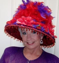 Red Hat Society Queens & Members Board - Lamp Shade Hat
