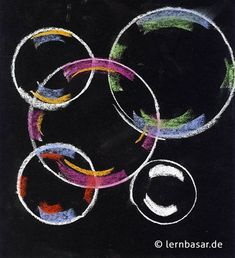 Seifenblasen ganz einfach selbstgezeichnet Bubble Art, Bubble Drawing, Art School, School Art Projects, Acrylic Painting For Kids, Unicorn Drawing, Textiles, Soap Bubbles, Doodle Coloring