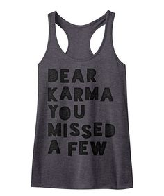 acc41e308ff8 Charcoal Heather  Dear Karma  Slim Fit Racerback Tank