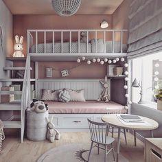 Enamorada me quedé cuando la vi!❤️❤️feliz noche! Credit @lovingitpl #inspiration #inspiracion #interiordesign #habitacioninfantil #kids #kidsroom #literas