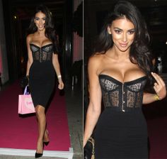Georgia Salpa certainly turned heads when she arrived at the UK Lingerie Awards in a jaw-dropping sheer lace corset on Dec. 4, 2013. It migh...