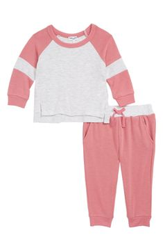 44e51af369 Free shipping and returns on Splendid Sweater   Sweatpants Set (Baby Girls)  at Nordstrom.com. Your little one will be ready for play time in these  sporty