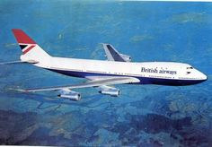 British Airways Boeing 747-136 Postcard