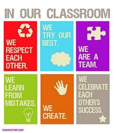 I love the positivity of these classroom rules.
