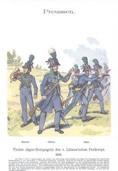 Band XII #57.- Preußen. Tiroler Jäger-Kompagnie des v. Lützow'schen Freikorps. 1813.
