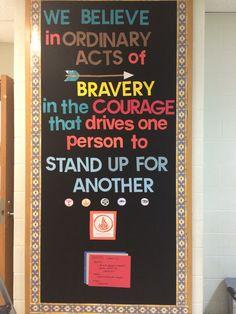 Divergent bulletin board for junior high