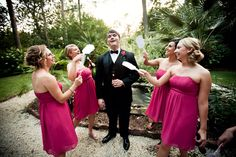the groom and bridesmaids by: lindsey A miller photography