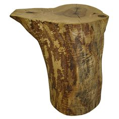 Reclaimed Solid Wood Maple Log Round Table or Stool by URBAN TREE SALVAGE.   One of a kind Tables created from salvaged felled Toronto trees.  Available in a variety of sizes and shapes, please visit our website for more information on our pieces at http://www.urbantreesalvage.com/shop/log-rounds