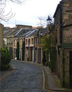 A cute street in Edinburgh,Scotland