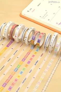 Pine Book Free Diary Washi Tapes allow you to easily add headers and dates to your planner or journal pages.