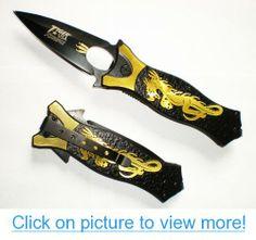 GOLD Tac Dragon Assisted Opening Tactical Pocket Knife + Glass Breaker