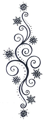 Snowflake Swirl Background - Conceal don't feel, Don't let them know