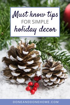 These simple tips teach easy holiday decor for busy people who want to get organized for the holidays.  Whether you're celebrating Christmas or Hanukkah, these simple holiday decorating tips will make holiday decorating as easy as 1, 2, 3.  #christmasdecor #holidaydecor #hanukkahdecor #holidaydecorations Christmas Dishes, Christmas Wreaths, Christmas Decorations, Holiday Decorating, Decorating Tips, Holiday Gift Guide, Holiday Gifts, Santa Mugs, Last Minute Christmas Gifts