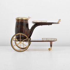 Aldo Tura Goatskin Bar Cart : Lot 138