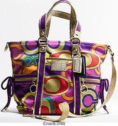 purple and gold - royal Coach Purses Cheap 6f7bbb4467c49