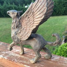 Mythical Gothic Winged Creature Made of Metal | eBay