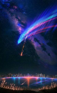 Kimi no na wa Kimi no na wa The post Kimi no na wa appeared first on Tapeten ideen. Anime Backgrounds Wallpapers, Anime Scenery Wallpaper, Landscape Wallpaper, Animes Wallpapers, Iphone Wallpapers, Architecture Wallpaper, Black Backgrounds, Desktop, Your Name Wallpaper