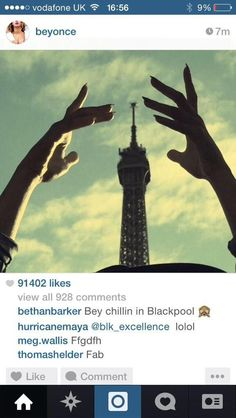 Beyoncé  Updates Her Instagram Account  08.11.2014  ( the comment on  just says it all  )