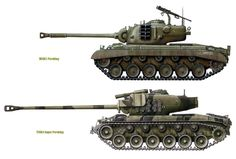 Military Weapons, Military Art, Military History, M26 Pershing, Patton Tank, Military Drawings, War Thunder, Tank Destroyer, Model Tanks