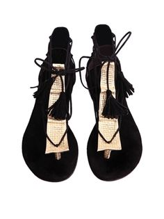 Gladiator suede flat sandals from Smiling Shoes, a Romanian hand-made shoes brand