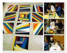 Improvisational foundation piecing from the Chicago Modern Quilt Guild