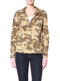 DA-NANG Women's Camo Jacket (Brown Camo)