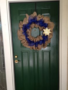 Blue Line WreathCHP Wreath by ShawBowtique on Etsy, $35.00