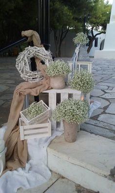 Στολισμός εκκλησίας στον Άγιο Γεώργιο στο Καβούρι με θαλασσινά στοιχεία. Δημιουργίες Vourlos Confetti  www.vourlos.com